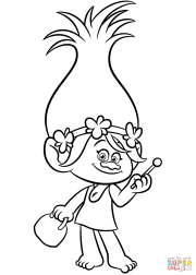 poppy trolls coloring page