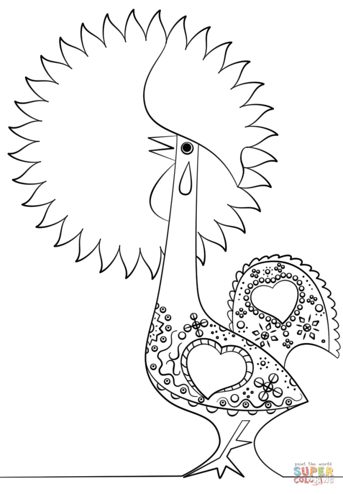 Click The Portuguese Rooster Coloring Pages To View Printable Version Or Color It Online Compatible With Ipad And Android Tablets