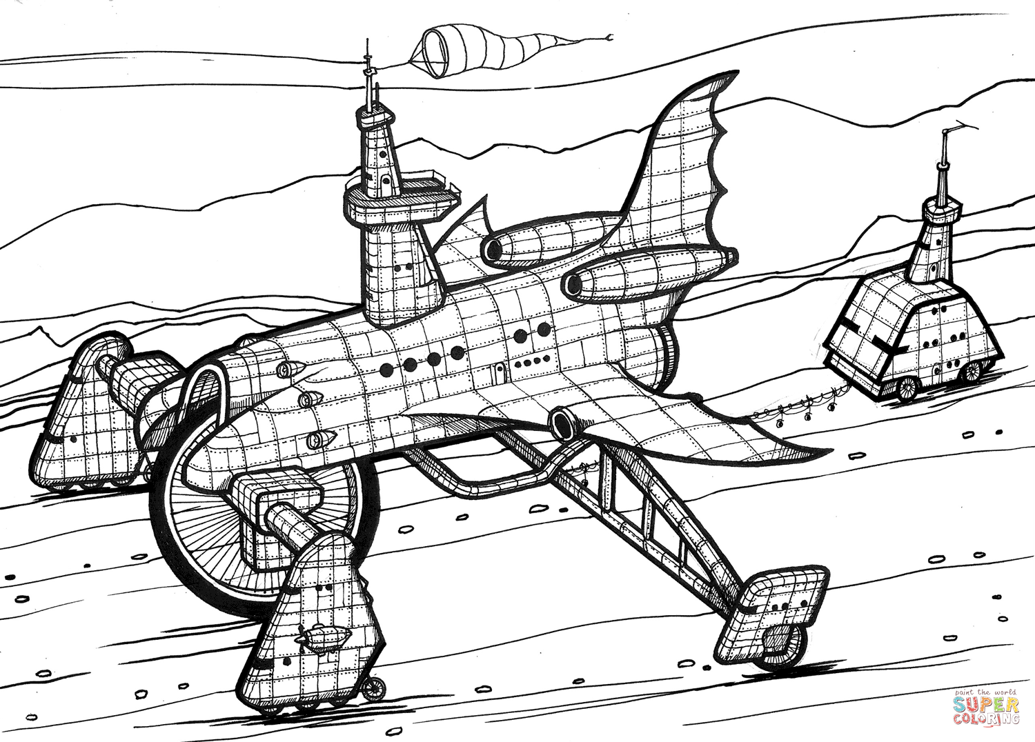 Space Shuttle Sheet Coloring Pages