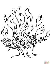 The Burning Bush coloring page | Free Printable Coloring Pages