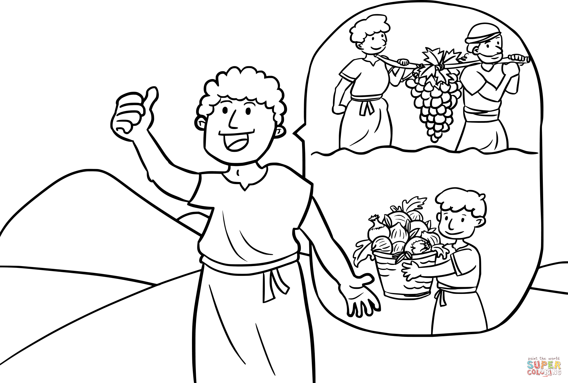 The G S Of Canaan Coloring Page
