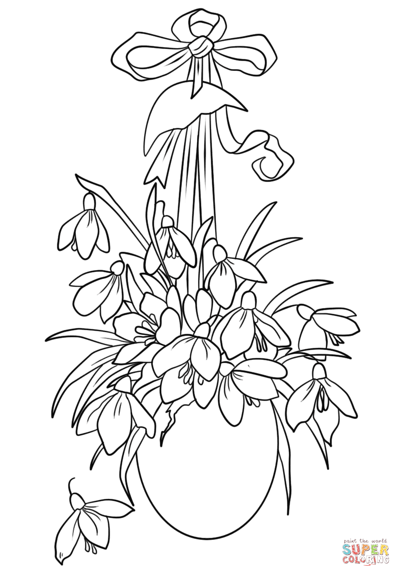 Click The Easter Flowers Coloring Pages