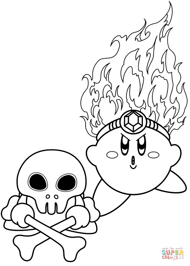 Kirby Chef Master Coloring Page