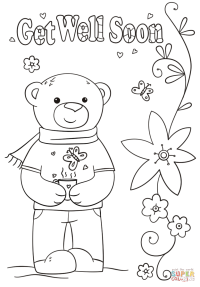 Funny Get Well Soon coloring page | Free Printable ...
