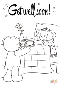 Get Well Soon coloring page | Free Printable Coloring Pages