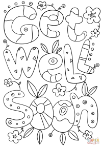 Get Well Cards Pages Coloring Pages
