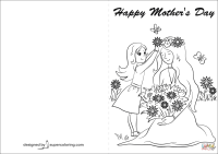 Happy Mother's Day Card coloring page   Free Printable ...