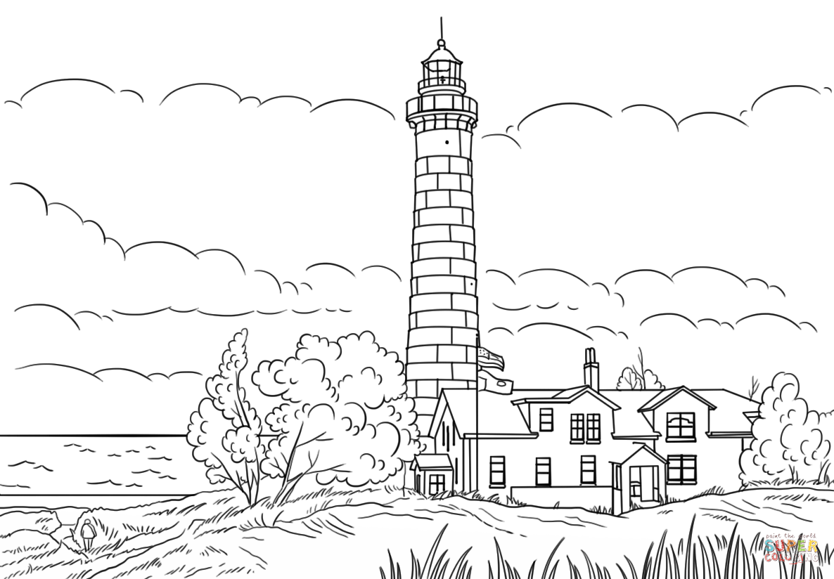 Big Sable Point Lighthouse, Ludington, Michigan coloring