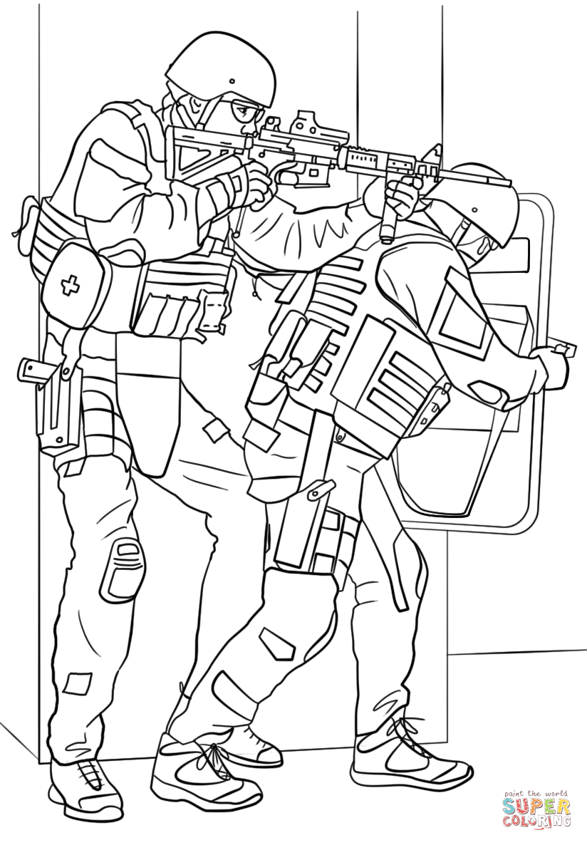 Swat Car Coloring Pages Sketch Coloring Page