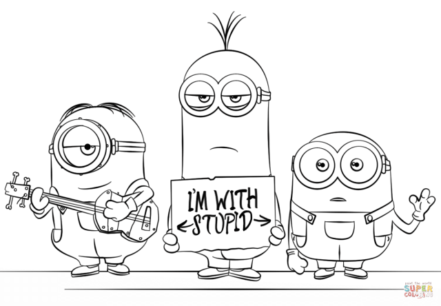 Minions from Despicable Me 30 coloring page  Free Printable
