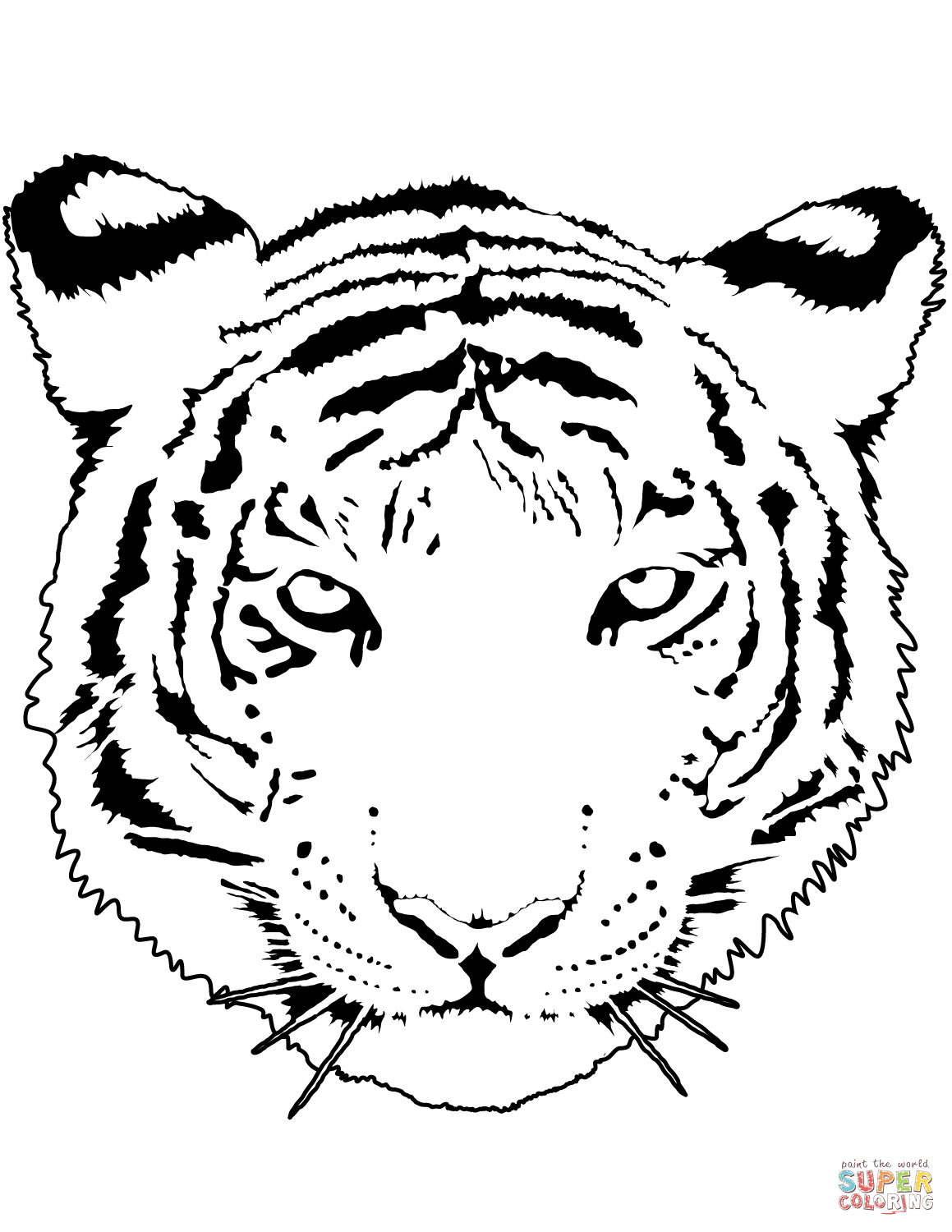 Tiger Portrait Coloring Page