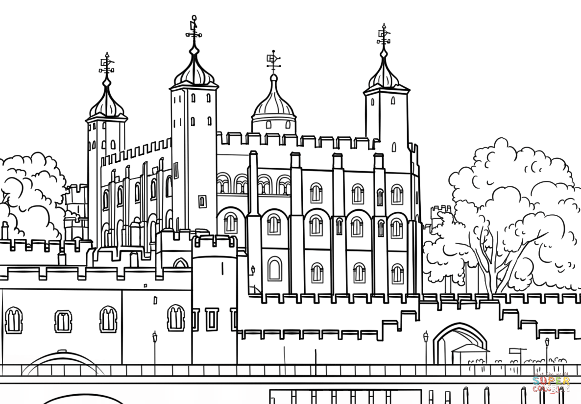 Tower Of London Coloring Page