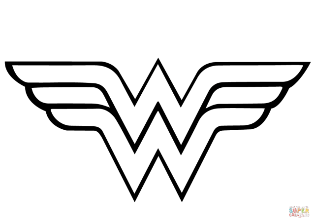 Wonder Woman Logo coloring page  Free Printable Coloring Pages