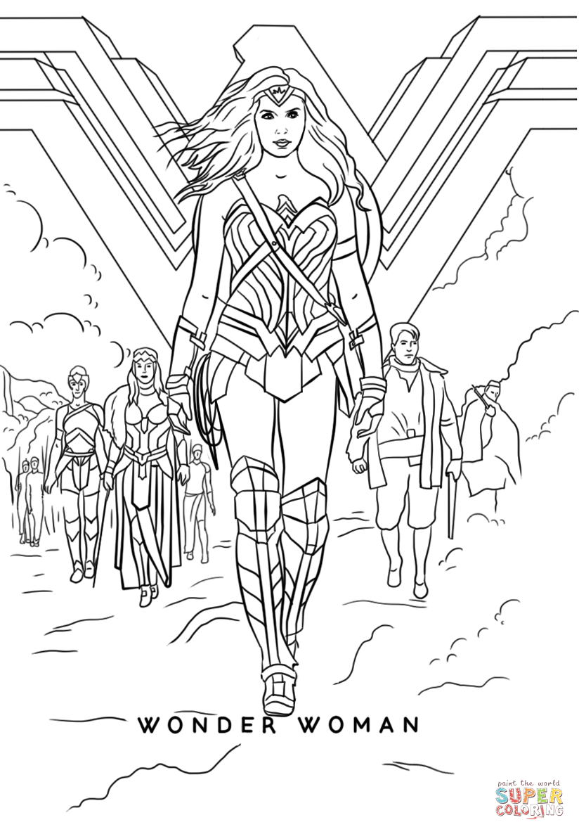 Wonder Woman Movie Coloring Page Free Printable Coloring Pages