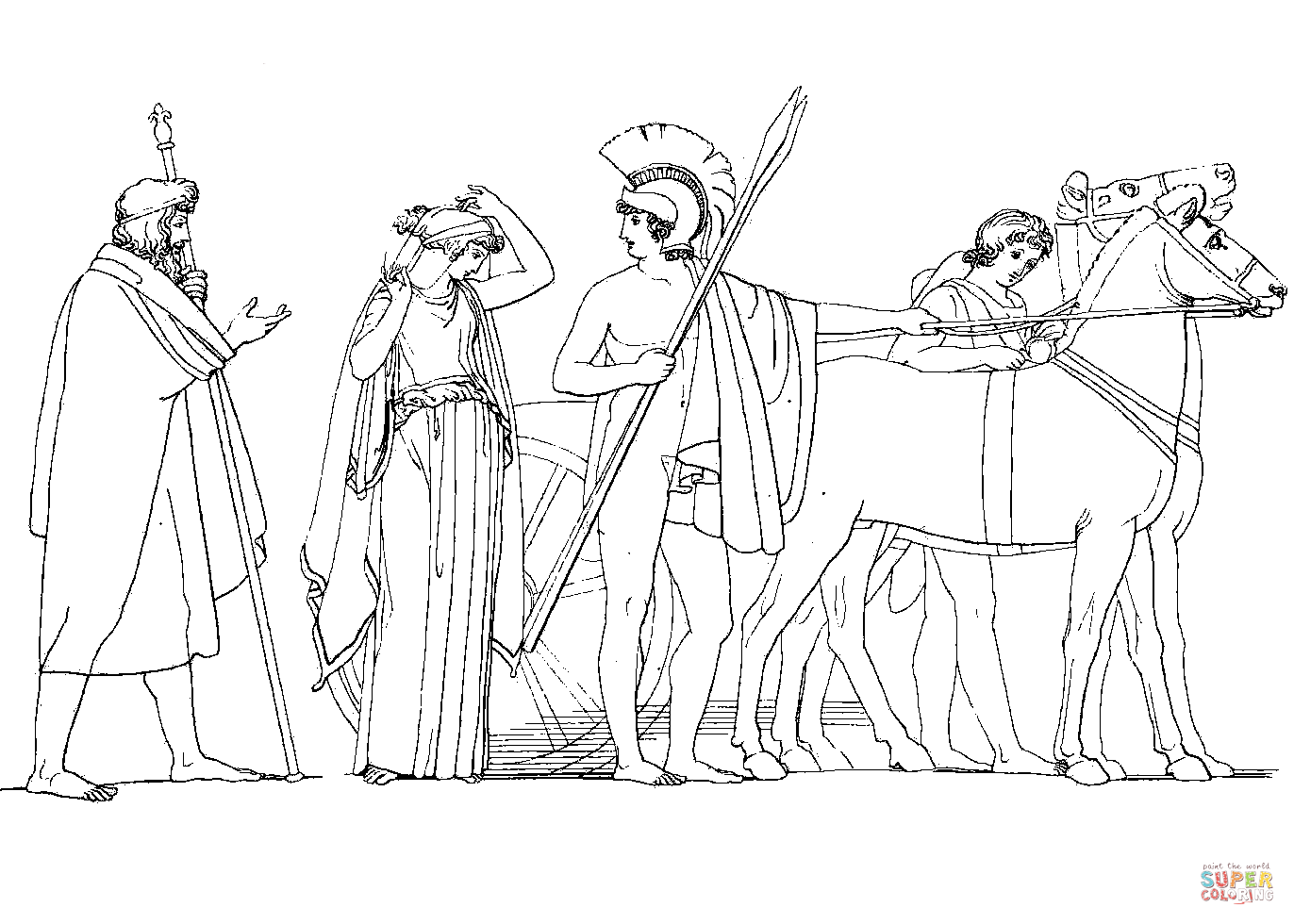 Odysseus Departing from Lacedaemon for Ithaca with His