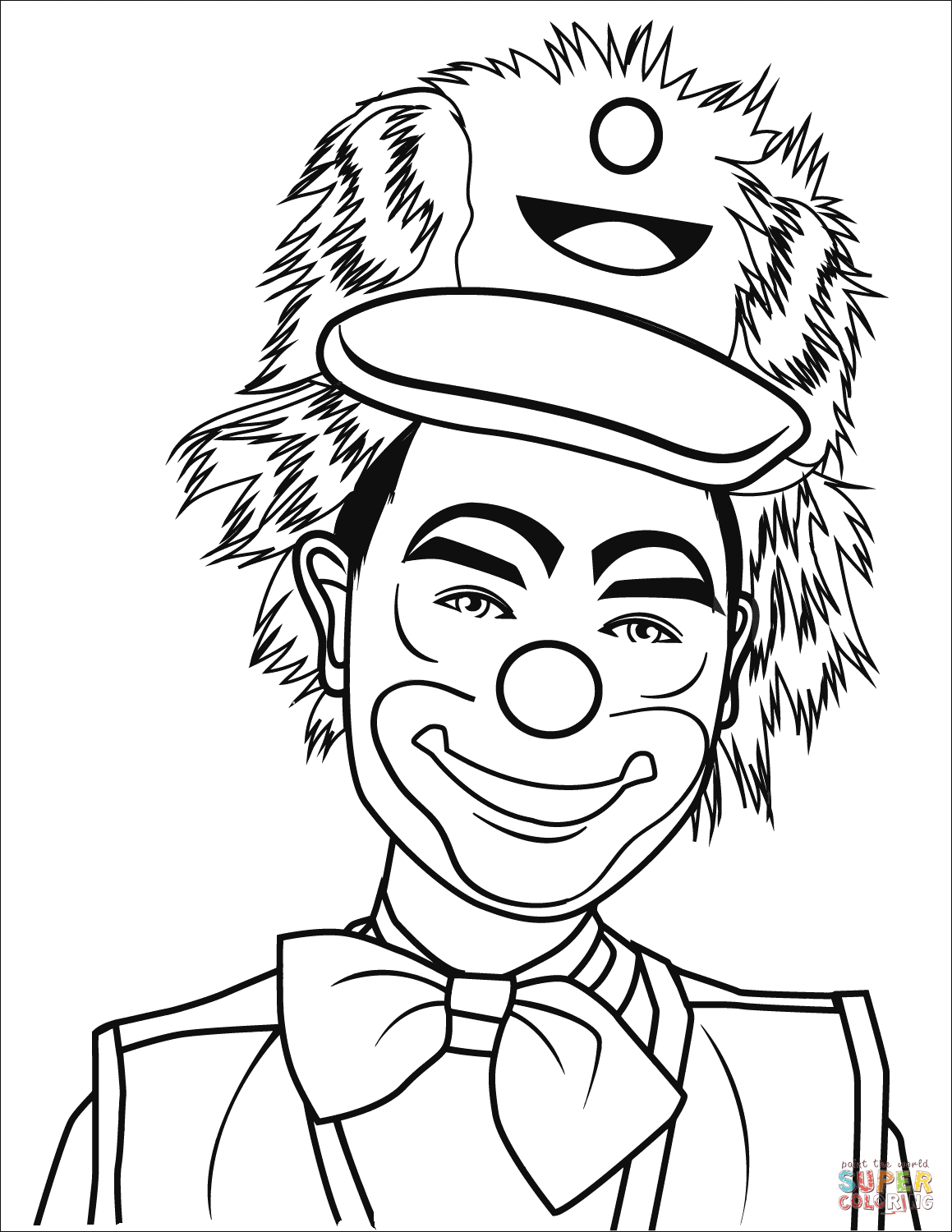 Clown Coloring Pages Free Coloring Pages Download | Xsibe spooky ...