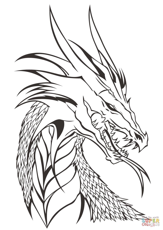Dragon Head Coloring Page