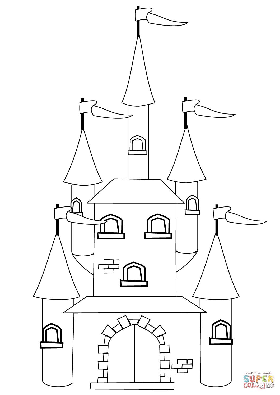 Fantasy Castle Coloring Page