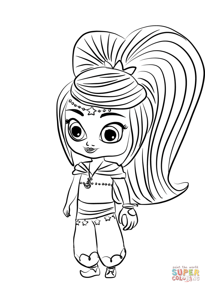 shimmer and shine printable coloring pages | Todayss.org