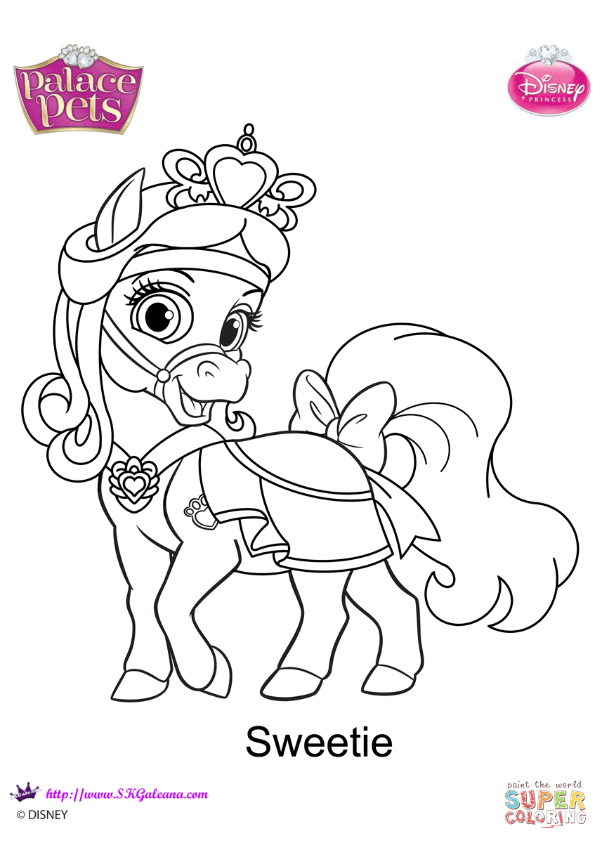 Palace Pets Sweetie Coloring Page Free Printable