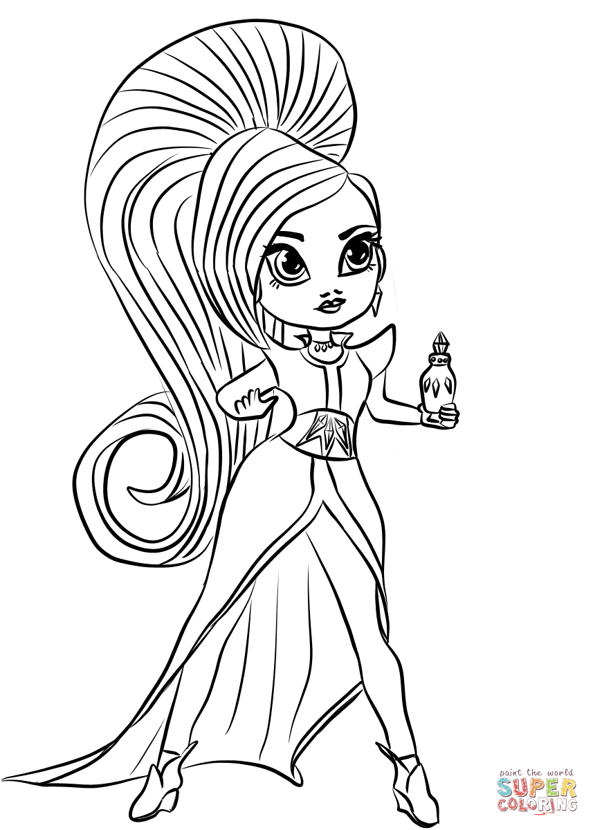 Full page printable coloring pages shimmer and shine full for Shimmer shine coloring pages