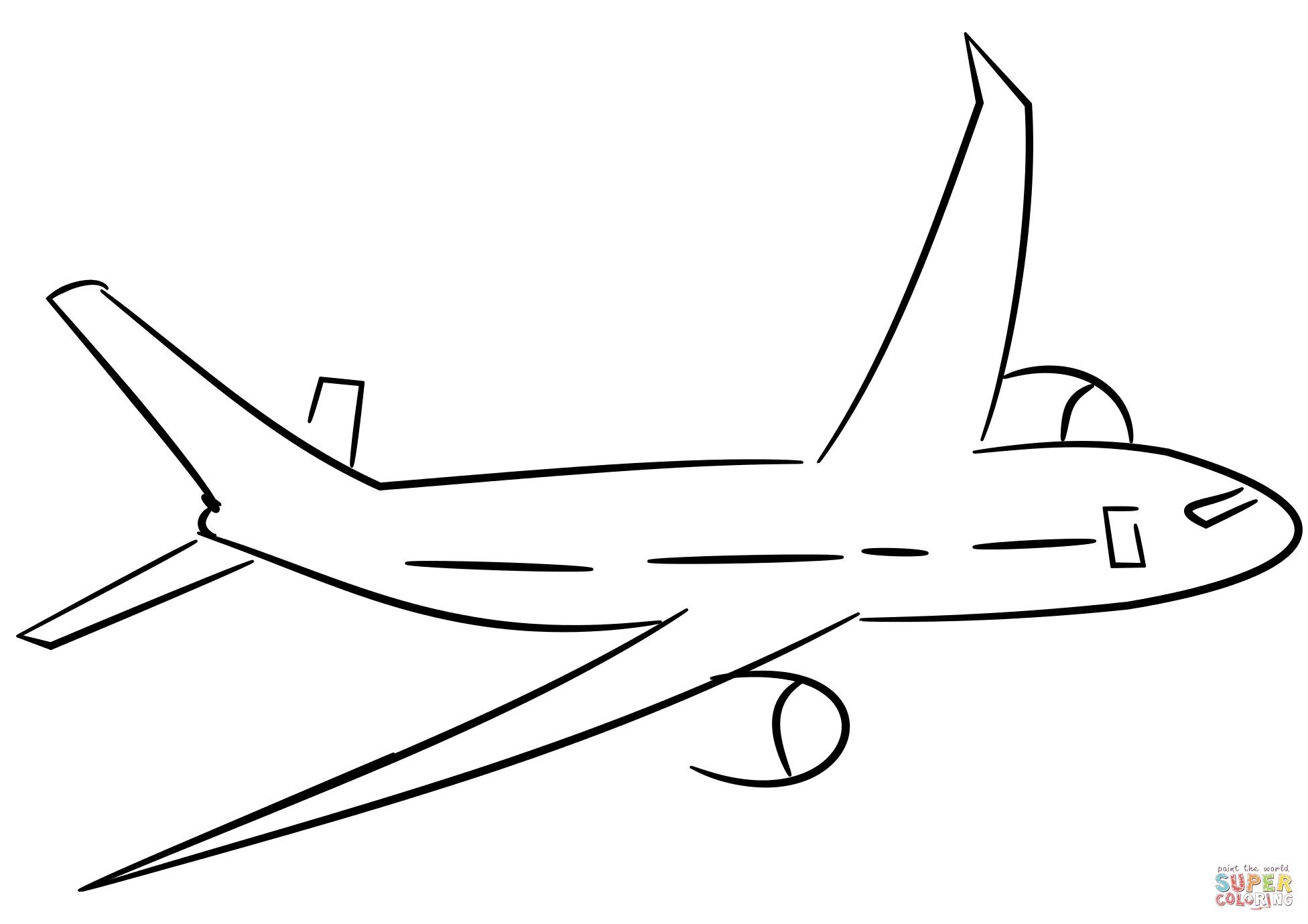 Desenho De Aviao Para Colorir