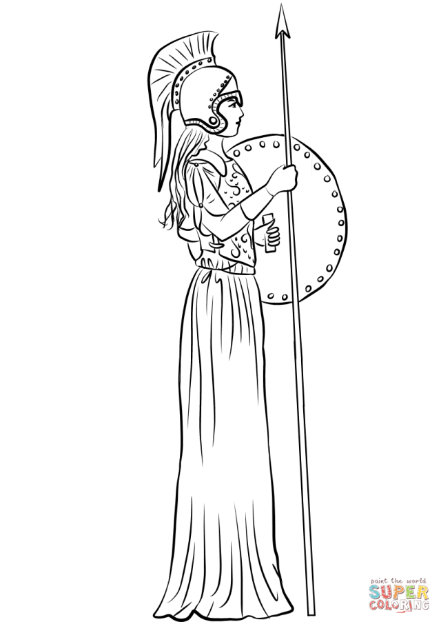 Athena or Minerva coloring page  Free Printable Coloring Pages