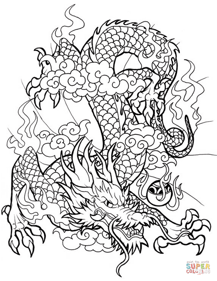 Free Easy Drawing Dragons Coloring Pages