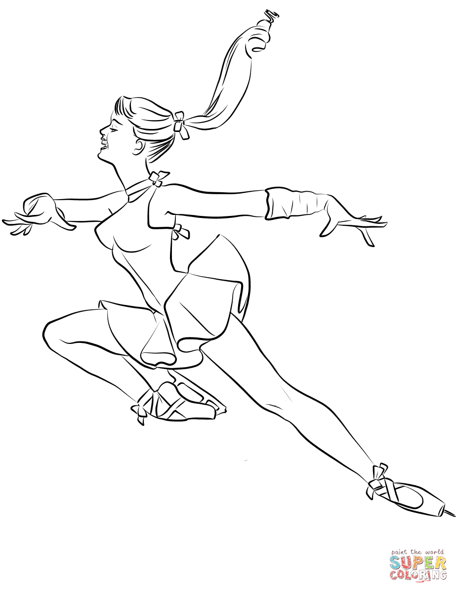 Ice Skating Coloring Pages Free Coloring Pages