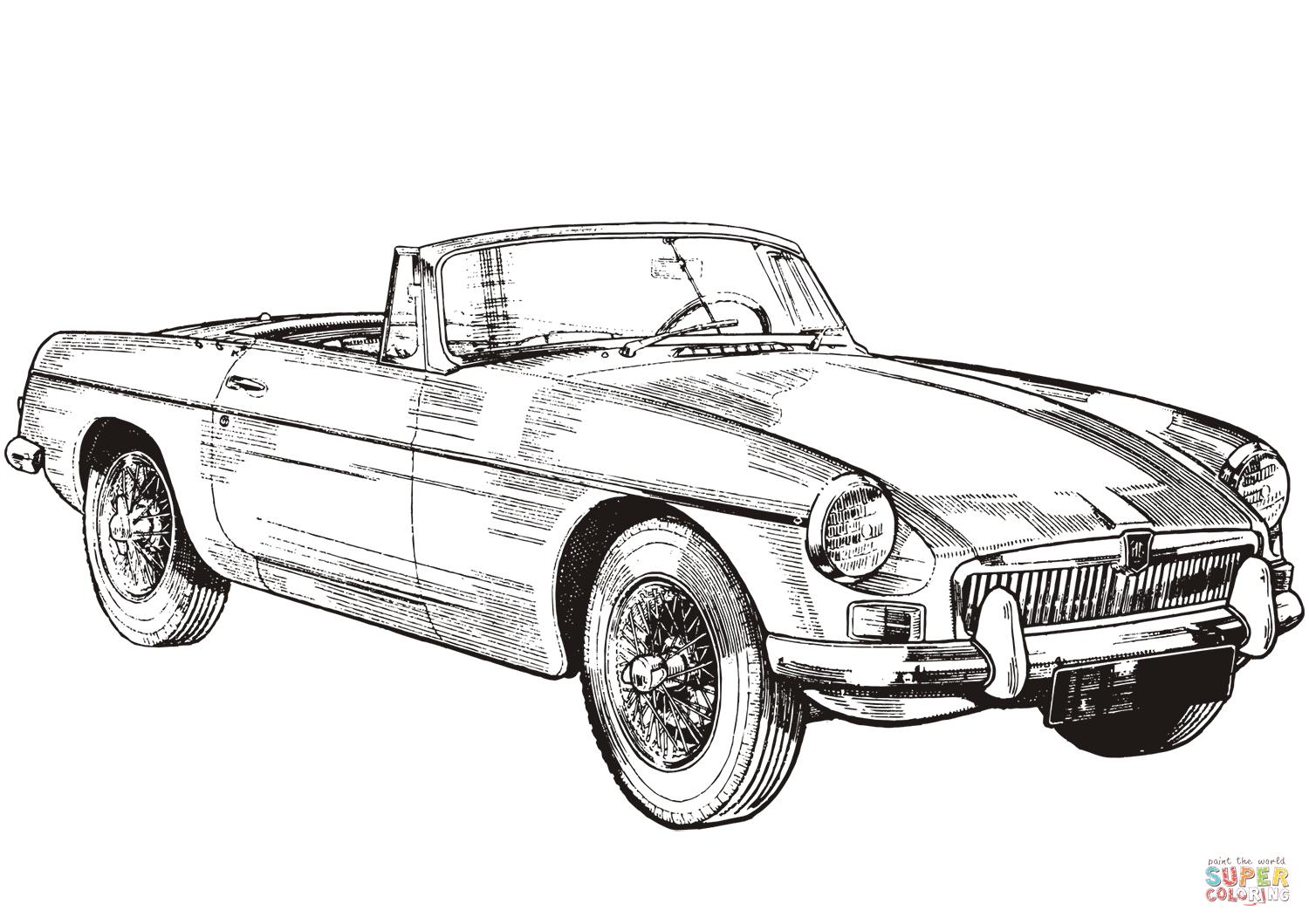 Mg Mgb Spyder Coloring Page