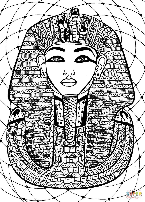 Pharaoh Coloring Page