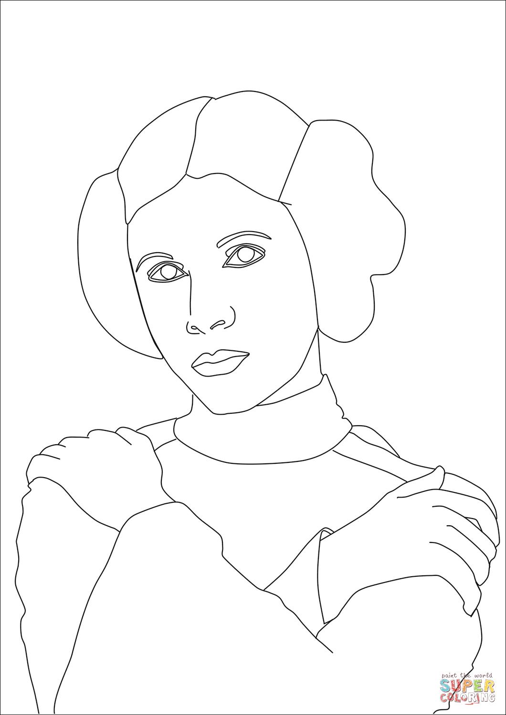 Princess Leia Coloring Page