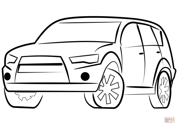 SUV Car coloring page | Free Printable Coloring Pages