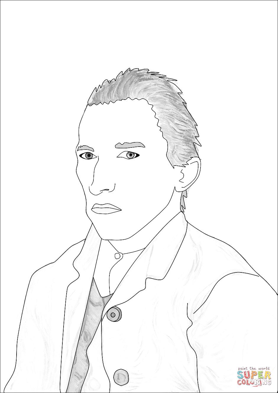 Self Portrait Coloring Page Coloring Pages