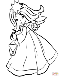 Coloring Pages Angels Kids