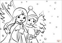 Dibujo de Nios de Navidad para colorear | Dibujos para ...