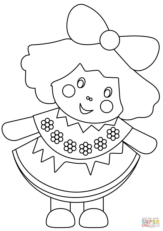 Disegno Di Bambola Da Colorare