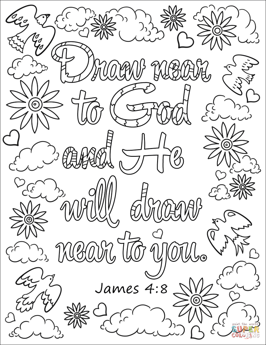 Draw near to God and He Will Draw near to You coloring
