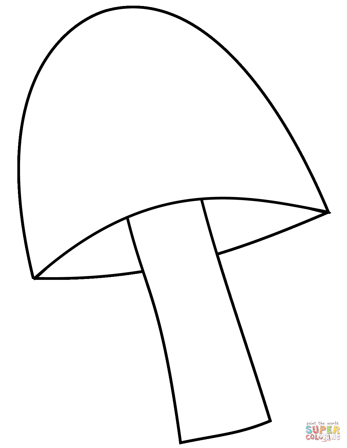 Mushroom Coloring Page Free Printable Coloring Pages