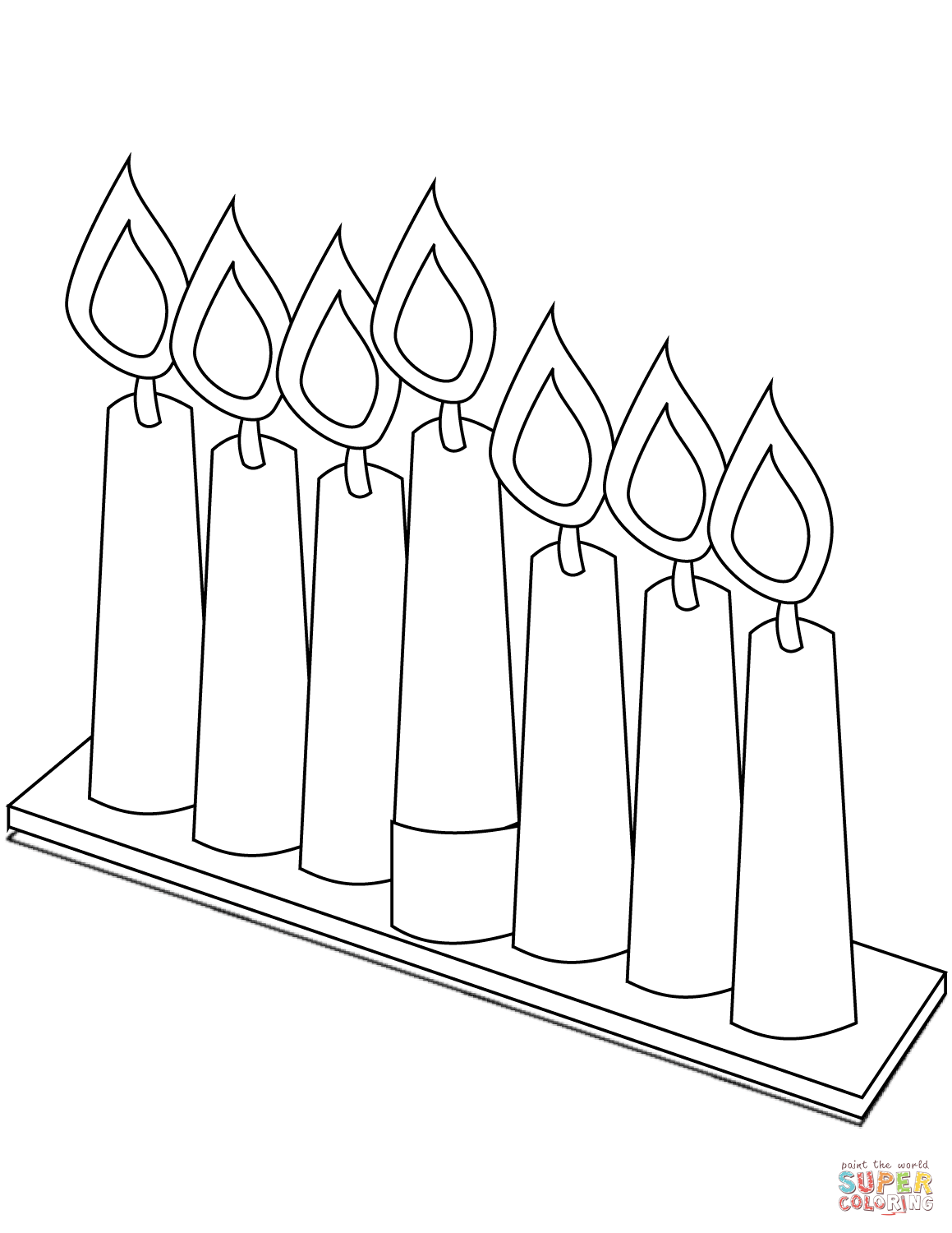 Kwanzaa Candles Page Coloring Pages