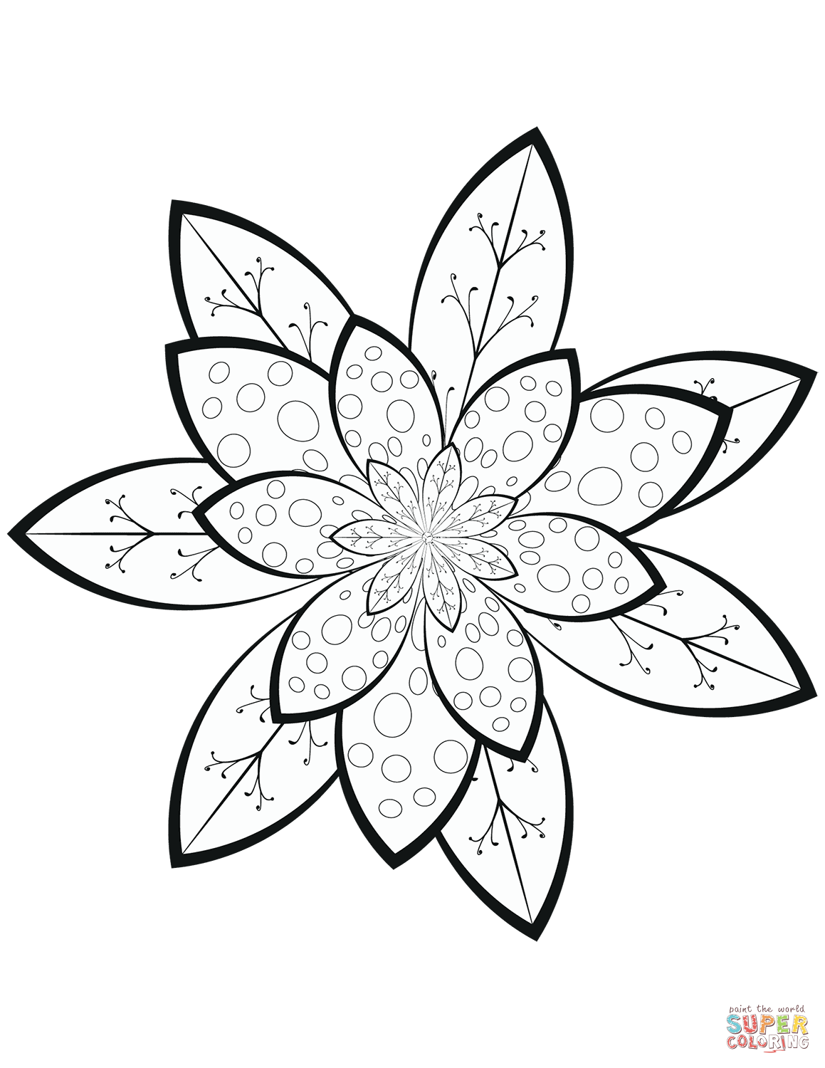 Worksheet Flower Pattern Color