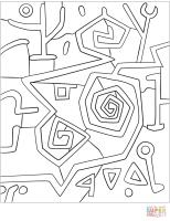 Disegni Di Paul Klee Da Colorare   Coloring book collection