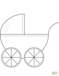 Dibujo de Cochecito de nio para colorear | Dibujos para ...