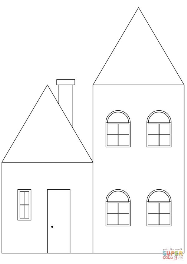 Simple House coloring page Free Printable Coloring Pages