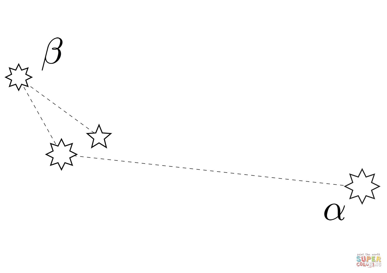 Apus Constellation Coloring Page