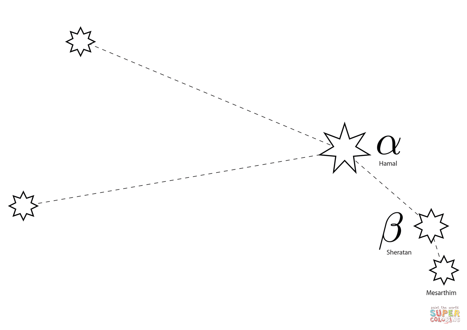 Aries Constellation Coloring Page