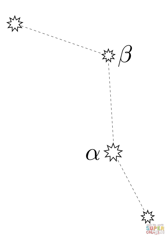 Caelum Constellation Coloring Page