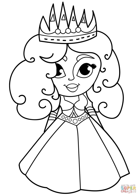 Cartoon Princess Coloring Page