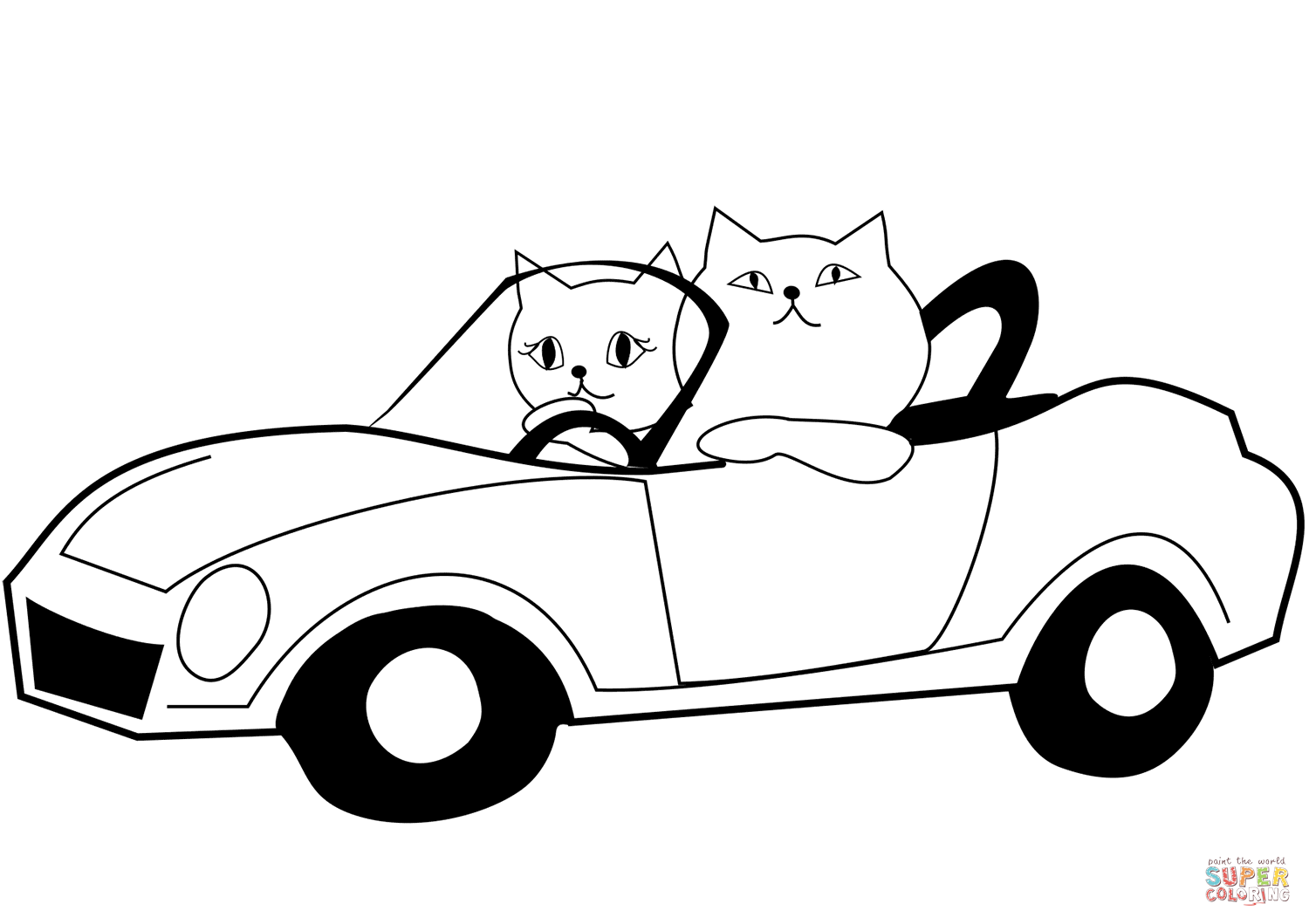 Red Cat Car