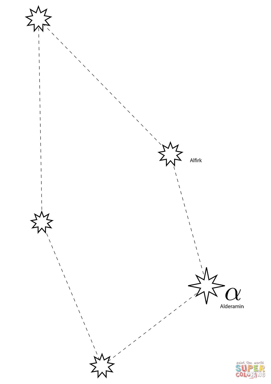 Cepheus Constellation Coloring Page